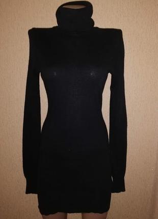Черная женская удлиненная трикотажная кофта, туника h&m