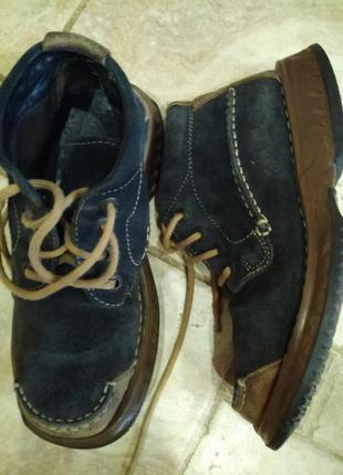 Ботинки замша кожа  брэнда* camel active* стелька 24.5 см. это  под  40 размер!