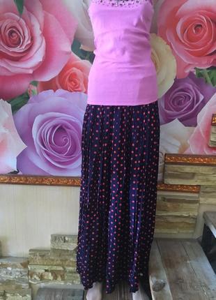 Женская юбка длинная в пол размера с-м , м- л;