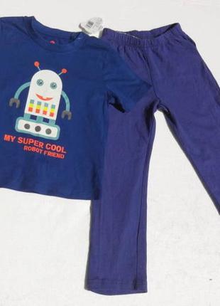 Lupilu. комплект (футболка и штанишки) на мальчика. хлопок. 98-104 размер.