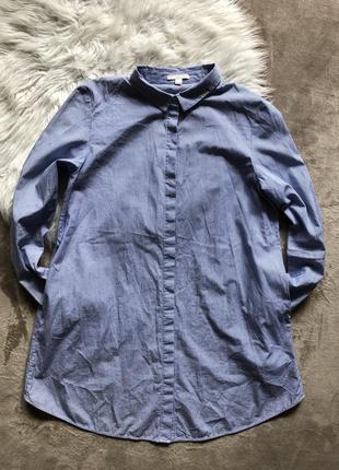 Женская крутая стильная длинная рубашка в полоску блуза туника cos