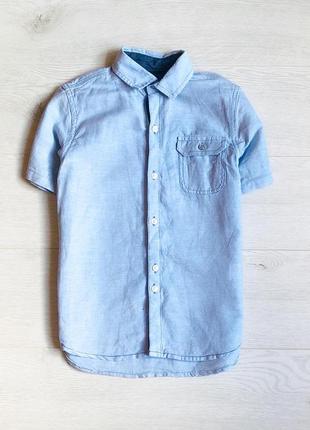 Рубашка next 50% лён