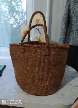 Классненькая плетенная сумка корзинка