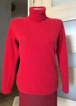 Яркий свитер гольф 100% кашемир