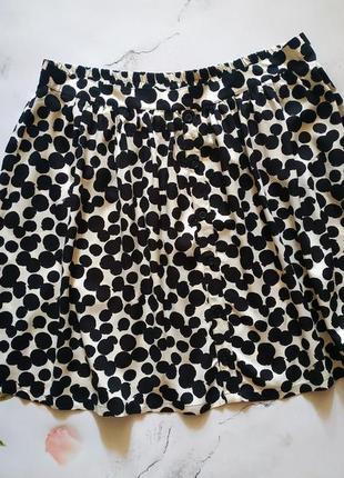 Тонкая летняя юбка на резинке