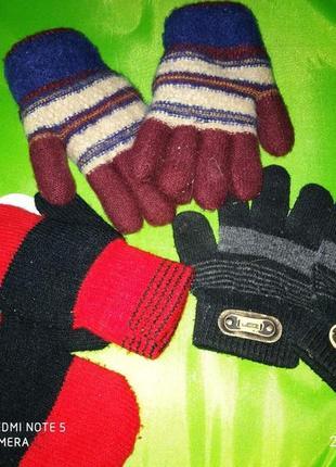 Детские перчатки рукавицы на 6-9 лет