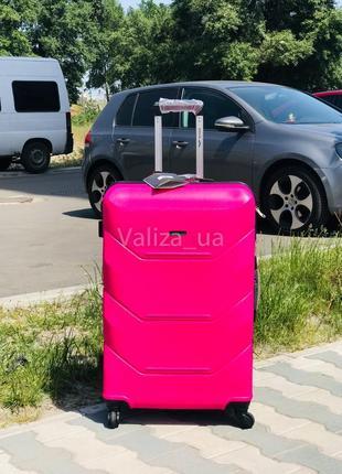 Качество! большой чемодан пластиковый из поликарбоната / валіза велика пластикова