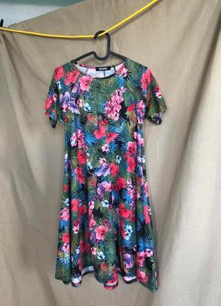 Платье missguided в цветочный тропический принт пальмы