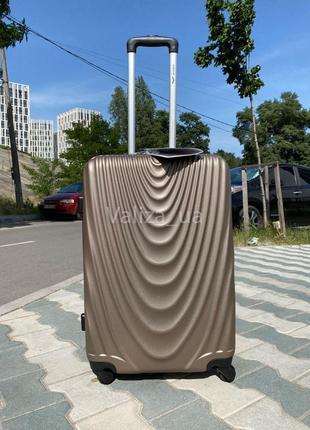 С расширителем! большой пластиковый чемодан из поликарбоната / валіза пластикова велика