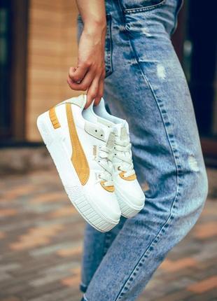 Puma cali sport heritage white/gold