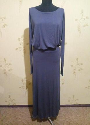Отоичное платье трикотаж в пол