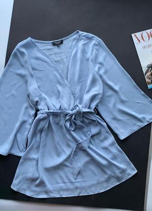 👗волшебная сиреневая блуза для беременных/блузка голубая на запах/лёгкая блуза с поясом👗