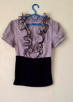 Блузка футболка  в школу под сарафан