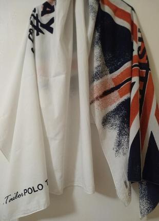 Шарф tom tailor polo team british polo day оригинал подписной накидка парео палантин