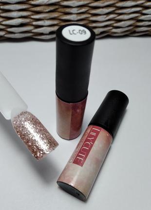 Гель-лак lc-09, розовая  коллекция.