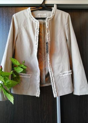 Стильный пиджак, с натуральным составом(лён, вискоза) bpc selection