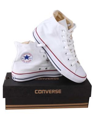 Кеды converse all star женские конверс конверсы белые высокие / кеди білі високі