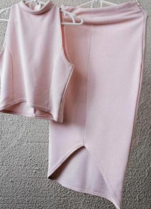 Брендовый летний костюм юбка тор missguided