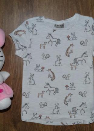 Красивая футболочка с зверюшками от next