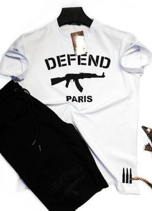 Спортивный костюм с шортыми шорты + футболка