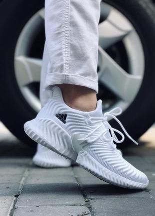 Красивейшие женские летние кроссовки adidas alphabounce белые
