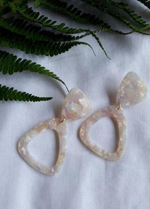 Акрилові сережки серьги