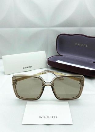 Солнцезащитные очки в стиле gucci 🔥😎😘  нюдовые 😍