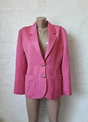Фирменный hennes удлинённый пиджак/жакет розового цвета с пуговичками, размер м-ка