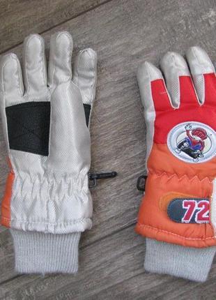 Перчатки лыжные 4-5 лет 3 размер мембранные краги термо