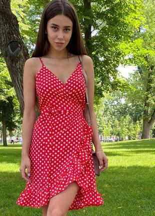 Mito 1301 красное платье сарафан ameli на тонких бретелях с поясом soft