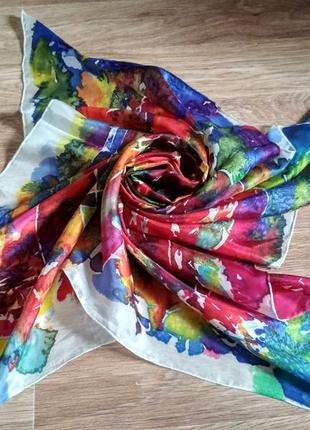 Шелковый платок ручная работа китай artys