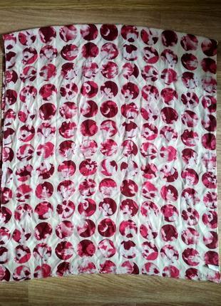 Шелковый шарф хомут натуральный шелк
