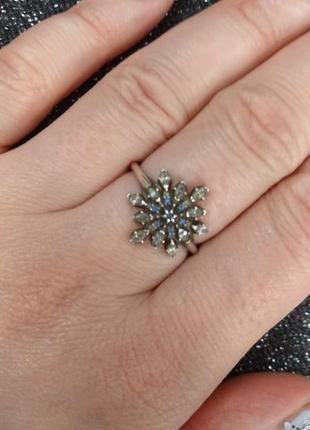 Пандора кольцо снежинка оригинал 18 размер