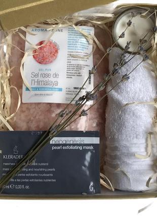 Подарочный набор easy.chic.box spa с гималайской розовой солью
