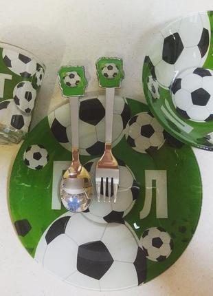 5 предметів. футбол. набір дитячого посуду. посуда