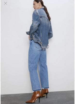 Женские укороченные джинсы zara / жіночі вкорочені джинси zara