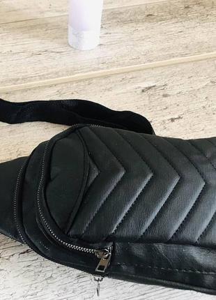 Сумка на плечо, бананка  спорт сумка, рюкзак 2 кармана на молнии 🇹🇷 22х32х10