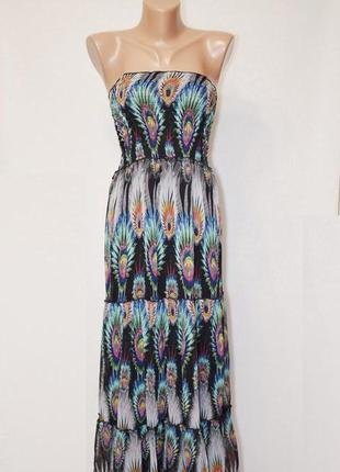 Длинный сарафан платье с оголенными плечами stella