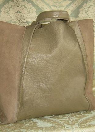 Сумка женская кожаная большая шоппер торба 100% натуральная кожа