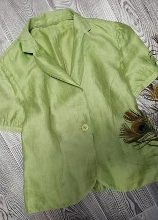 Блуза пиджак, лен