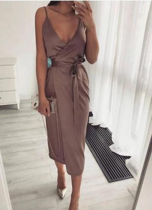 Женское платье сарафан на запах, длинный сарафан норма, батал, жіноче довге плаття