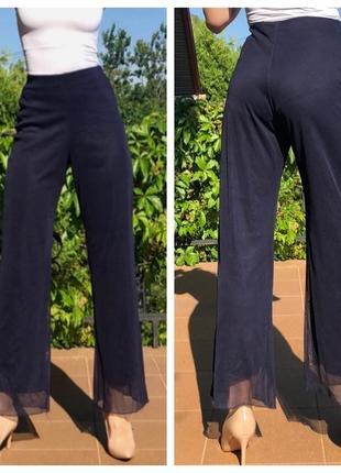 Эффектные брюки высокая посадка струящаяся ткань утяжка франция оригинал