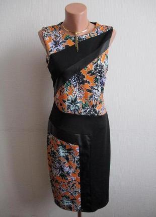 Платье со вставками из кожзама miss selfridge