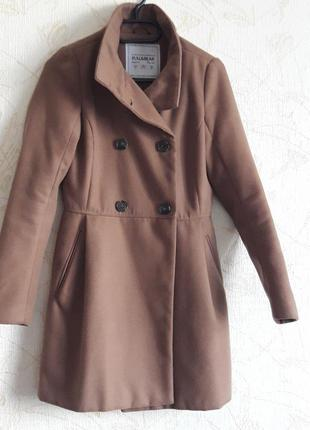 Базовое  пальто цвета camel
