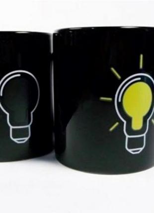 Керамическая кружка before-after лампочка