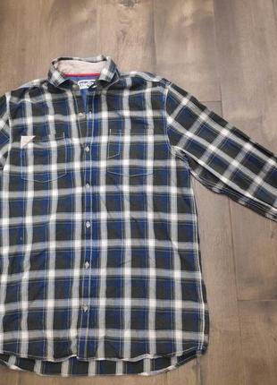 Красивая хлопковая клетчатая рубашка. 14 лет. next. новая!