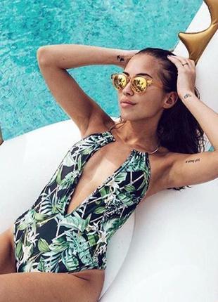 Супер модный купальник с обручем asos palm print