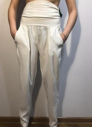 Giovanni s-м брюки модные летние белые бочонок