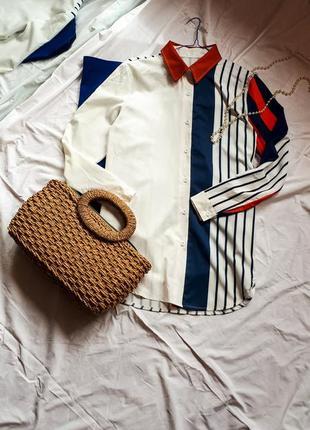 Рубашка сорочка блуза в полоску