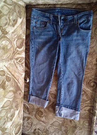 Бриджы джинсовые